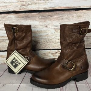 NWT Frye Slouch Leather Engineer Boots 12R